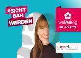 Postkartenmotiv Frau zum Welt MS Tag 2019 - Motto #sichtbarwerden