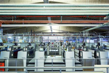 A view of the printing presses of Onlineprinters GmbH / Copyright: Onlineprinters GmbH