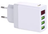 revolt Intelligentes 3-Port-USB-Wandnetzteil mit LED-Display, 3,1 A, 15,5 Watt