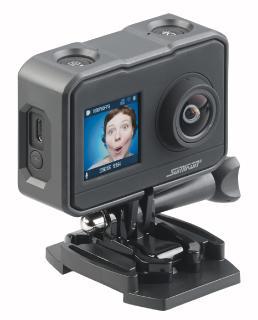 NX 6101 06 Somikon UHD Action Cam DV 3817 mit 2 Displays. WLAN und Sony Bildsensor / Copyright: PEARL.GmbH / www.pearl.de