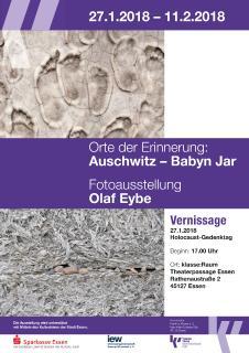 Ankündigungsplakat für die Ausstellung von Olaf Eybe.