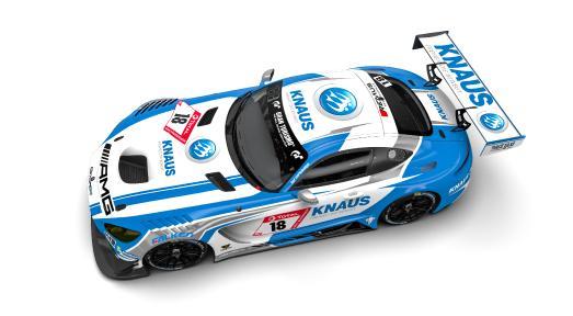 KNAUS Mercedes-AMG GT3 vom GetSpeed Performance Team. Foto: Knaus Tabbert GmbH