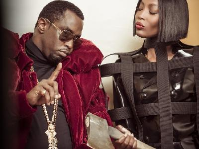"""Sean """"Diddy"""" Combs und Naomi Campbell © From the Backstage of Pirelli Calendar 2018 by Tim Walker - pictures of Alessandro Scotti"""