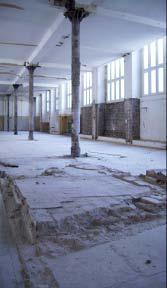 Die Stützenkonstruktion während der Entkernung