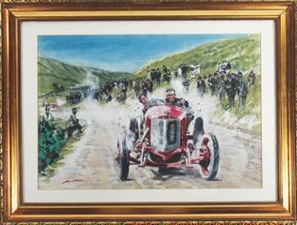 Lot Nummer 1084 Walter Gotschke Gemälde Targa Florio 1924 Ergebnis: 7.110,-€