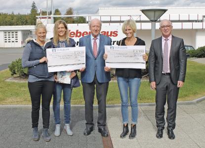 v.l.: Valeska Hofmann, Isabell Brüser, Hans Weber, Bianca Eich, Andreas Bayer