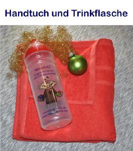 Badehandtuch + Trinkflasche