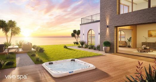 Urlaubsfeeling im eigenen Zuhause: ein vivo spa® Outdoor Whirlpool macht es möglich!