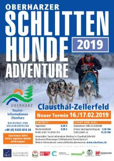 Plakat: Schlittenhunde-Adventure 2019