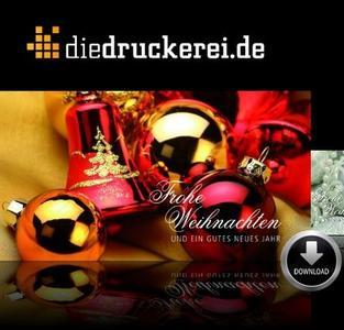Weihnachtsgrüße von diedruckerei.de