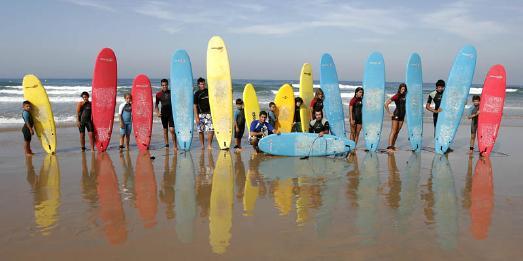 Surfing in Cadiz
