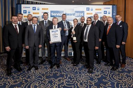 Die Gewinner des Service-Awards 2014 in der Kategorie PKW