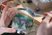 Upcycling einer Plastikflasche