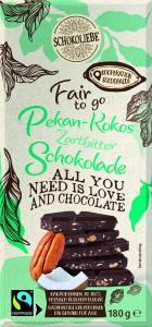 Netto Marken Discount Fair to go Schokolade Pekan Kokos Zartbitter