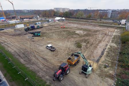 Das Baugelände im Technologiepark von oben fotografiert