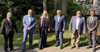 Frank Jonas, Reimund Niederhöfer, Dagmar Groß-Mauer, Johannes Lauer, Andreas Müller, Andreas Unger (v. l. n. r.)