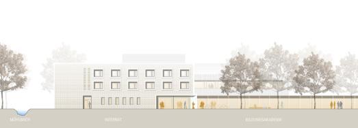 Vorentwurf zum Neubau des Internats sowie der Umstrukturierung und Modernisierung der Bildungsakademie Tübingen