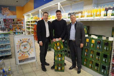 Nun auch regionale Säfte von der Mosterei Klimmek im real,- Markt Schwedt/Oder