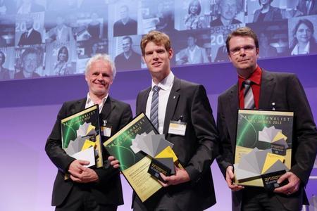 v.l.n.r.: Ernst Hofacker (2. Platz), Matthias Schulze Steinmann (1. Platz) und Dr. Clemens Doriat (3. Platz)