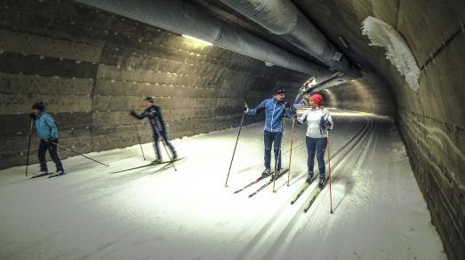 Der Skitunnel in Vuokatti © Visit Vuokatti