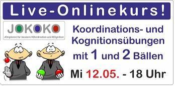 JOKOKO - Originelle Wurf- und Fangübungen mit 1 und 2 Bällen - 12. Mai - 18 Uhr