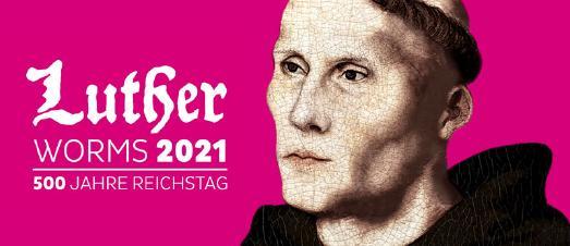 Wortmarke Luther-Worms / Martin Luther als Augustinermönch um 1521, digitale Collage aus zeitgenössischen Arbeiten von Lucas Cranach d. ƒ. © Kulturkoordination Worms