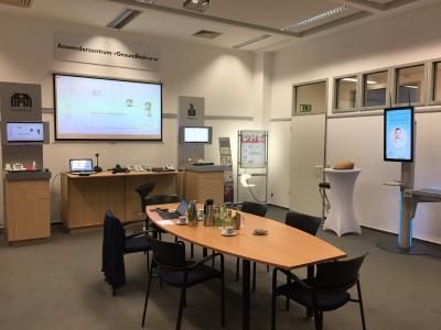Gesundheitsterminal der DeGIV GmbH im Kompetenz-Zentrum für Telematik und Telemedizin (ZTG GmbH) installiert