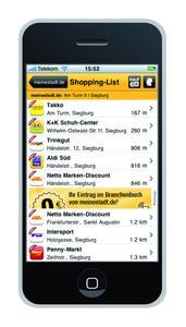 iPhone-App von meinestadt.de jetzt mit integriertem kaufDA Navigator