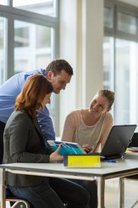 Fernstudierende an der Hochschule Ludwigshafen (Foto: Hochschule Ludwigshafen am Rhein)
