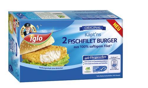 Käpt'ns Fischfilet Burger
