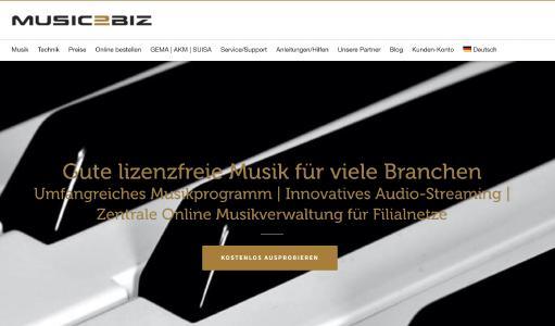MUSIC2BIZ Homepage