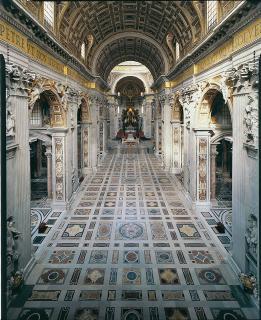 Bayerische LEDs hellen Kirchenraum, Decke und Kuppel des Petersdoms künftig auf. Foto: obx-news/Vatikan