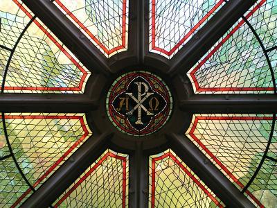 Rosette in der Kapelle der Theologischen Hochschule Friedensau © Photo Dr. Rolf J. Pöhler