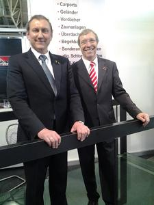 Hohen Besuch erhielt Thomas Hammer vom Vizepräsidenten der Handwerkskammer Mannheim Alois Jöst auf der Internationalen Handwerksmesse 2012