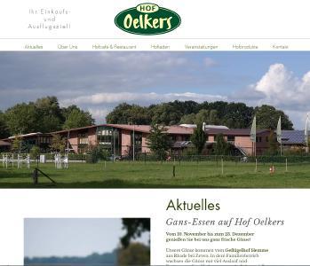 Neue Internetseite Hof Oelkers