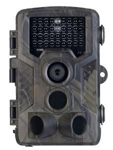 VisorTech Full-HD-Wildkamera WK-610 mit 3 PIR-Sensoren, Nachtsicht, Farbdisplay, IP65