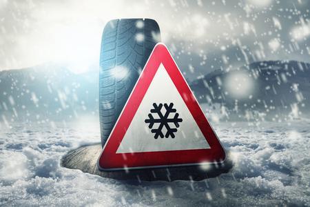 Jetzt ist der richtige Zeitpunkt Winterreifen mit RDKS aufziehen zu lassen. Sie erhöhen die Fahrsicherheit. Foto: Huf/Fotolia