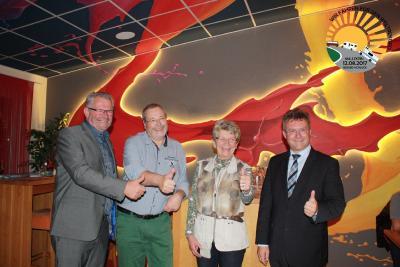 Im Goldschmitts Unterstützer des Konvoi 2018 v.lks. MdB Alois Gerig, Dieter Goldschmitt, Botschafterin Maria Dhonau und Landrat Achim Brötel