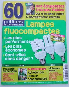 """Das französische Verbrauchermagazin """"60 millions"""" testete 14 Energiesparlampen mit überwiegend """"gutem"""" Ergebnis."""