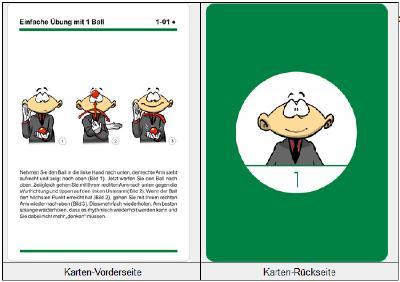 Vorder- und Rückseite einer JOKOKO-Karte (Format DIN A5)