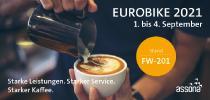 Versicherungsdienstleister assona ist mit starken Produkten und einer Café-Lounge bei der Eurobike 2021 dabei