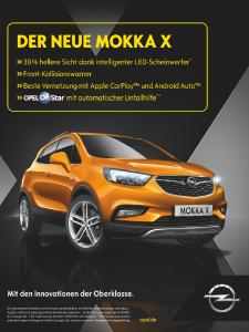 X-tra class: The new Europe-wide advertising campaign shows the highlights of the Opel MOKKA X