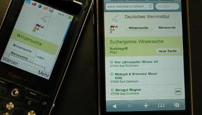 Neue Winzer- und Weinfest-Suche per Handy