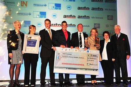 Die Sieger 2013: Autohaus Newel erringt den 1. Platz beim Bundesbildungspreis