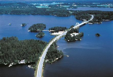Weg nach Tampere über's Wasser