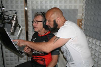 Dirk Moor und Martin Semmelrogge im Studio