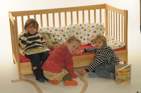 WDL Kinderbett Zaubermaus in Erle massiv