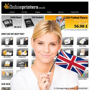 Printed products for the UK online