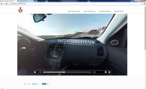 Als erster Automobilhersteller ermöglicht Mitsubishi eine virtuelle Probefahrt im ASX