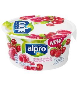 Alpro® Soja-Joghurtalternative, Himbeere-Cranberry